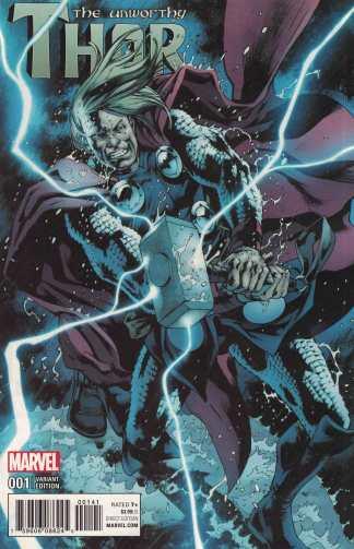 Unworthy Thor #1 1:15 Bryan Hitch Variant NOW Marvel 2016