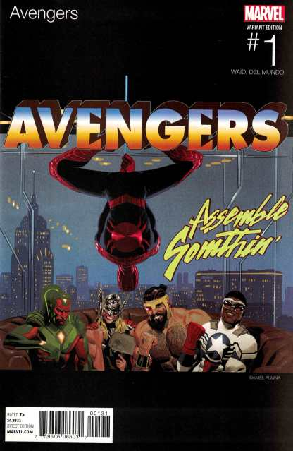 Avengers #1 Daniel Acuna Hip Hop Variant NOW Marvel 2016 Waid Del Mundo