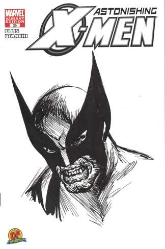 Astonishing X-Men #25 Alex Ross Sketch Variant COA Dynamic Forces