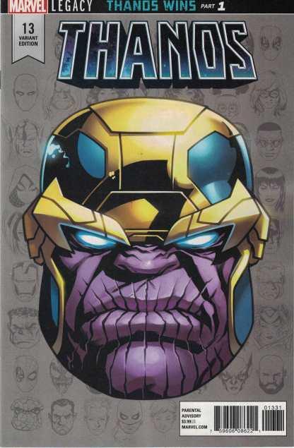 Thanos #13 1:10 McKone Headshot Variant Marvel 2016 First Cosmic Ghost Rider