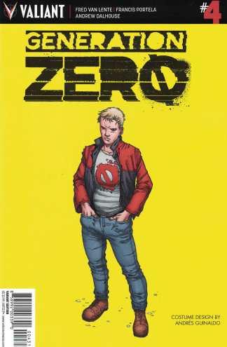 Generation Zero #4 1:10 Guinaldo Character Design Variant Cover C Valiant 2016