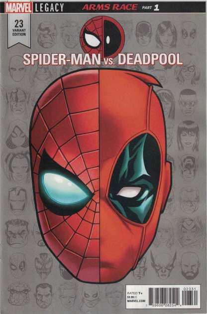 Spider-Man Deadpool #23 1:10 Mike McKone Headshot Variant Marvel Legacy