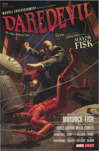 Daredevil #595 1:100 Greg Hildebrandt Variant Marvel Legacy
