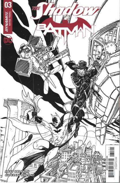 Shadow Batman #3 1:50 Michael William Kaluta B&W Variant Dynamite 2017