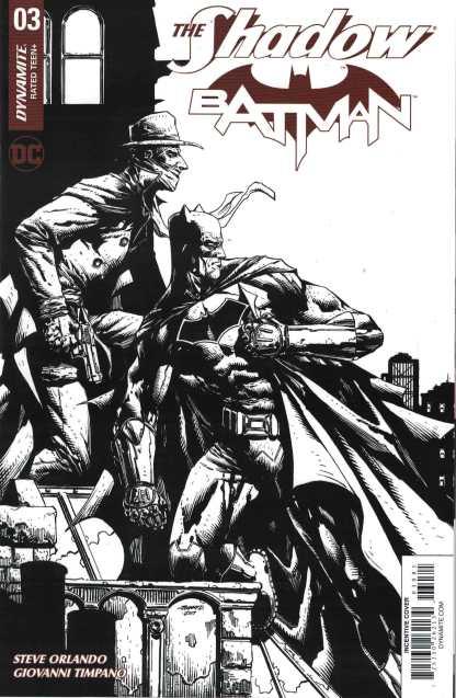 Shadow Batman #3 1:30 Johnny Desjardins B&W Variant Dynamite 2017