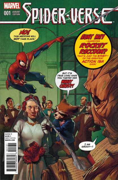 Spider-Verse #1 Rocket and Groot Variant