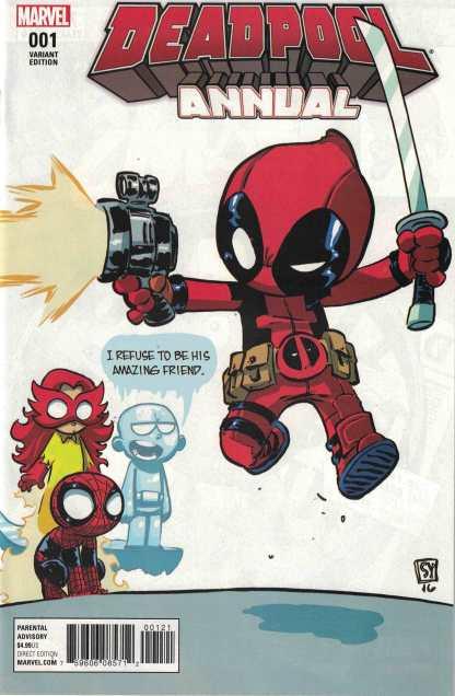 Deadpool Annual #1 Unlocked Skottie Young Variant Marvel 2016