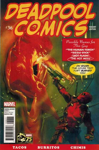 Deadpool #36 1:25 Gabriel Dell'Otto Homage Variant Marvel Comics 2012 NOW