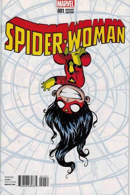 Spider-Woman #1 Skottie Young Baby Variant Marvel 2014