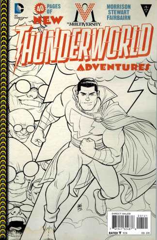 Multiversity Thunderworld #1 1:10 Cameron Stewart Black and White Variant