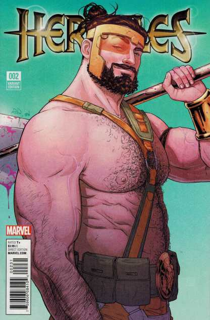 Hercules #2 1:25 Russel Dauterman Variant Marvel ANAD 2015