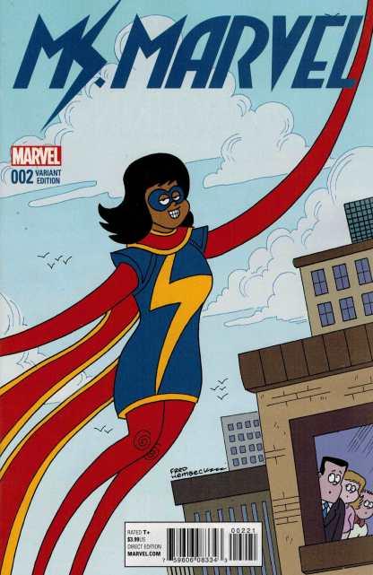Ms Marvel #2 1:10 Fred Hembeck Variant Marvel ANAD 2015