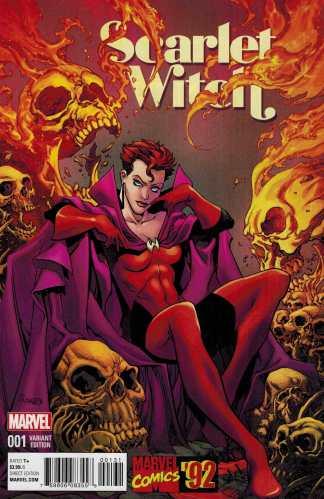 Scarlet Witch #1 1:20 Raney Marvel 92 Variant ANAD 2015