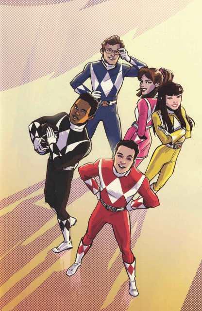 Power Rangers Pink #5 1:50 Wu Variant Boom Studios 2016 Mighty Morphin