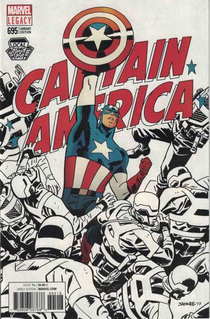 Captain America #695 LCSD Chris Samnee Variant Marvel Legacy 2017