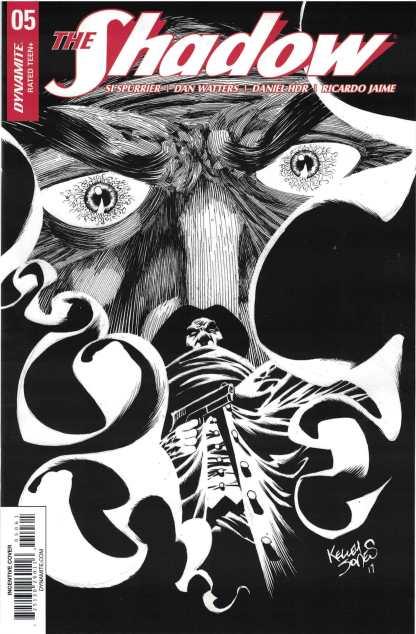 Shadow #5 1:30 Kelley Jones Black & White Variant Dynamite 2017