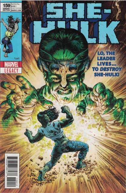 She-Hulk #159 Duncan Fegredo Incredible 115 2nd Print Variant Marvel Legacy 2018