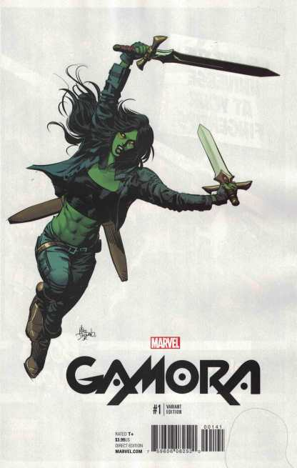 Gamora #1 1:10 Mike Deodato Jr Teaser Variant NOW Marvel 2016 Guardians Grounded