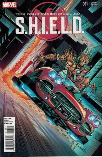 SHIELD #1 1:25 Schiti Young Guns Variant Rocket and Groot