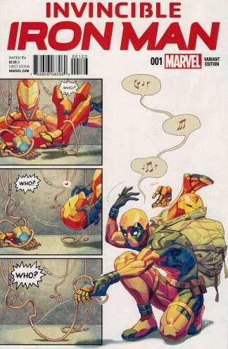 Invincible Iron Man #1 Ysamine Putri Deadpool Party Variant Marvel ANAD 2015