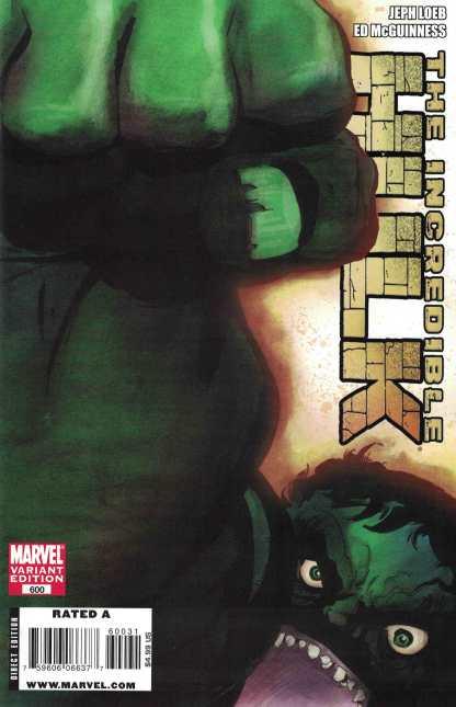 Incredible Hulk #600 1:25 Tim Sale Variant Marvel 2009