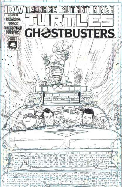 Teenage Mutant Ninja Turtles / Ghostbusters #2 1:10 Artist Edition Variant RI TMNT