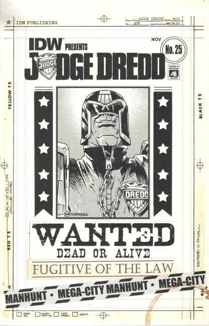 Judge Dread #25 1:10 Artists Edition Variant IDW