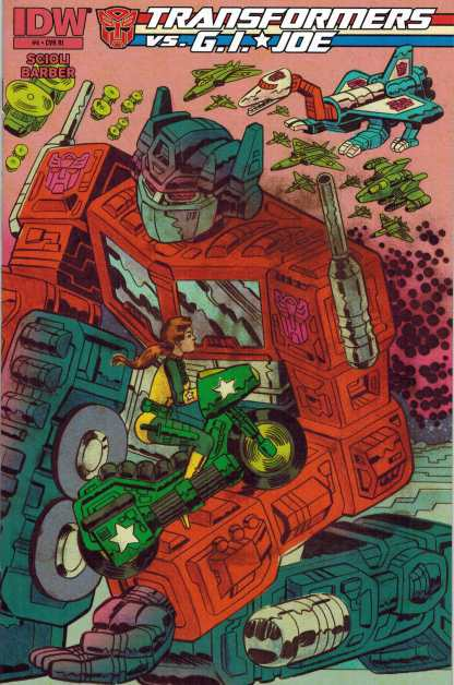 Transformers vs GI Joe #4 1:10 Scioli Variant GI