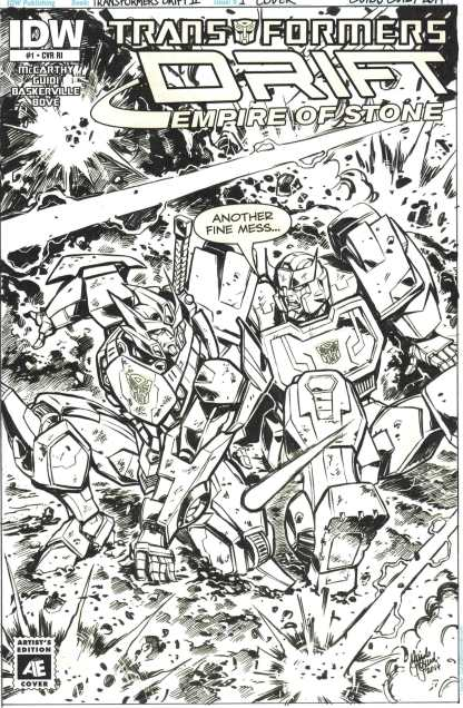 Transformers Drift Empire of Stone #1 1:10 Artist Edition Variant IDW