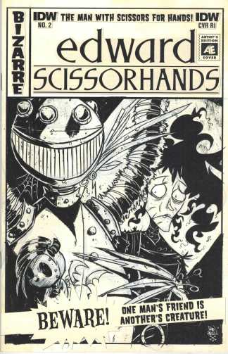 Edward Scisscorhands #2 1:10 Artist Edition Variant IDW