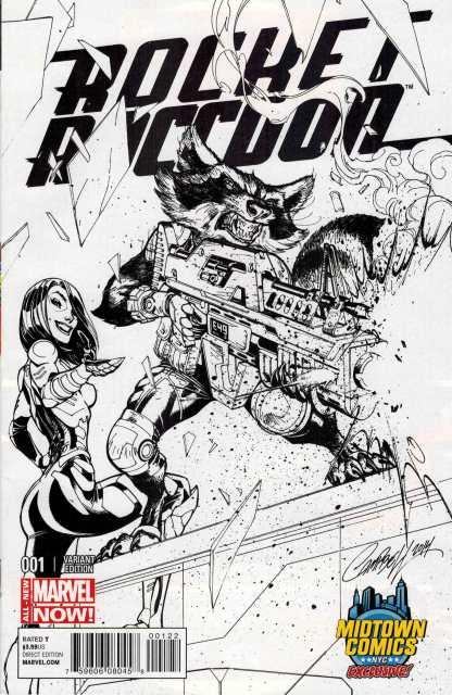 Rocket Raccoon #1 Midtown Exclusive J Scott Campbell Sketch Cover
