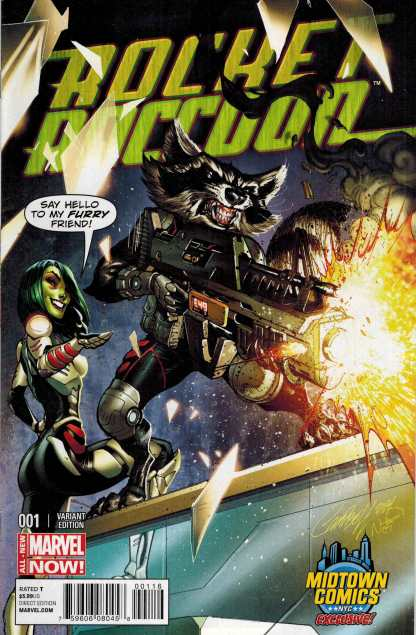 Rocket Raccoon #1 Midtown Exclusive J Scott Campbell Color Variant Cover