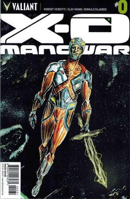 X-O Manowar #0 1:10 Jeff Lemire Variant Valiant
