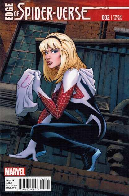 Edge of Spider-Verse #2 1:25 Greg Land Variant First Spider-Gwen HOT!