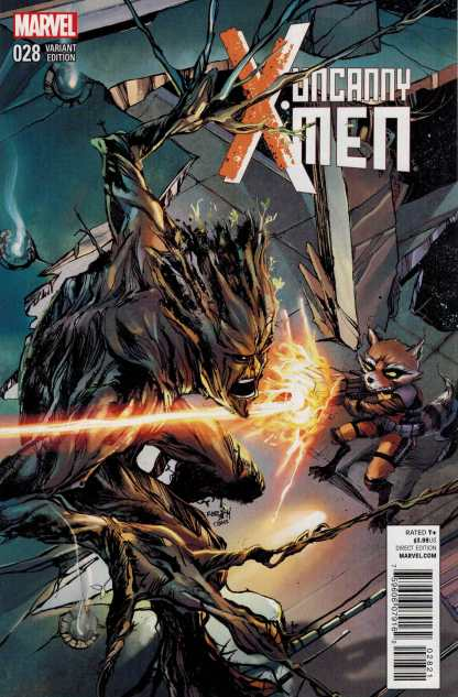 Uncanny X-Men #28 NOW Rocket and Groot Variant