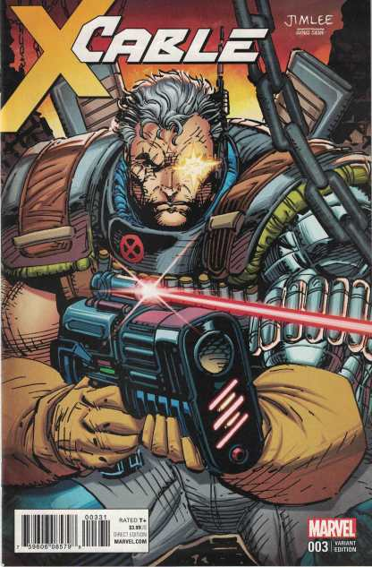 Cable #3 Jim Lee X-Men Trading Card Variant Marvel 2017