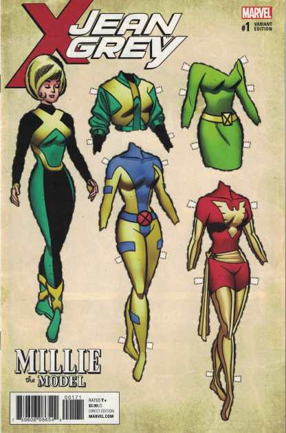 Jean Grey #1 1:10 David Williams Design Variant Marvel 2017 X-Men