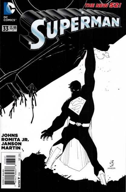 Superman #33 1:50 John Romita Jr Sketch Variant DC New 52 2011