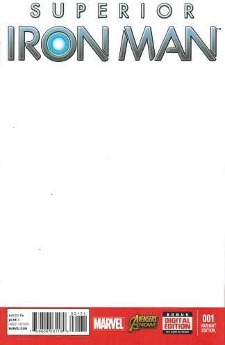Superior Iron Man #1 Blank Sketch Variant Marvel 2014