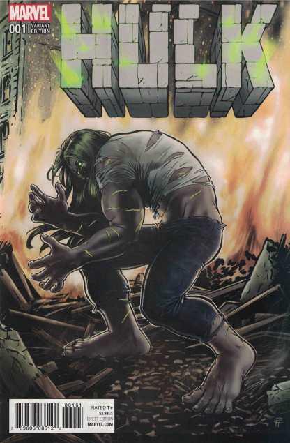Hulk #1 1:25 Pia Guerra Variant NOW Marvel 2016 Gray She-Hulk