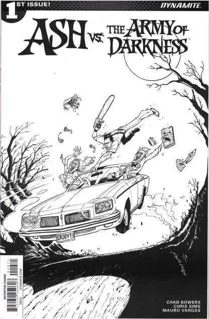 Ash Vs. the Army of Darkness #1 Mauro Vargas B&W Variant Dynamite 2017