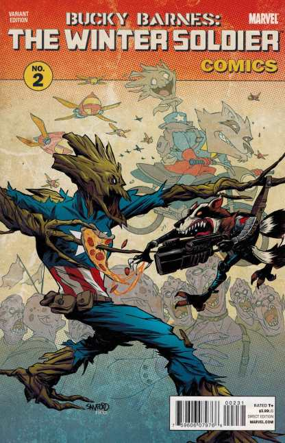Bucky Barnes: the Winter Soldier #2 Rocket and Groot Variant