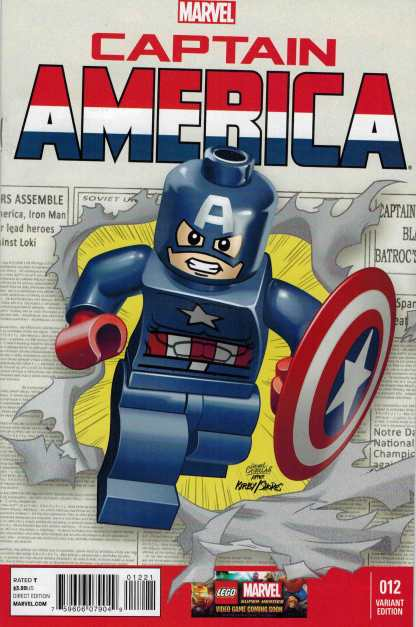 Captain America #12 1:25 Lego Color Variant Marvel NOW