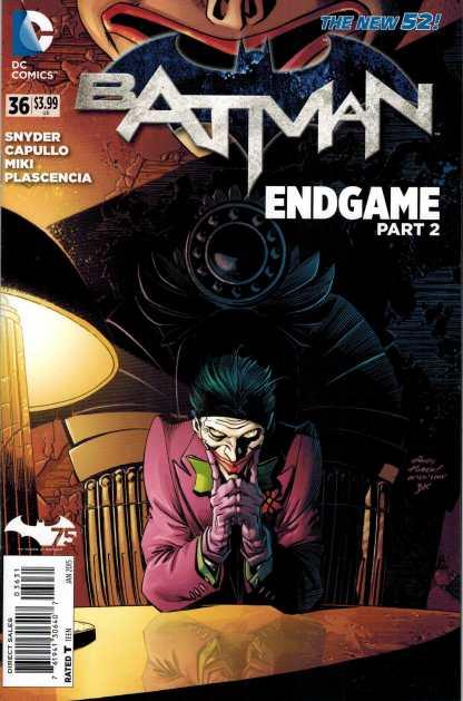 Batman #36 1:25 Andy Kubert Variant Joker Endgame New 52