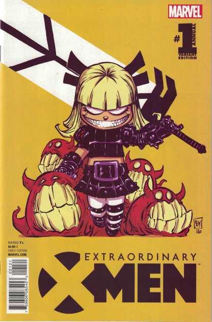 Extraordinary X-Men Annual #1 Skottie Young Variant Marvel 2016 Illyana Magik