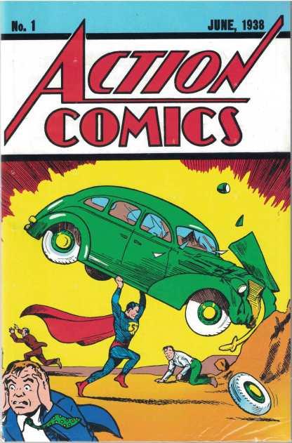 Action Comics #1 June 1938 Superman Loot Crate Exclusive Reprint w/ COA DC