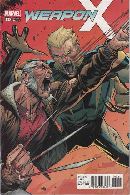 Weapon X #3 1:25 Dan Mora Variant Marvel 2017
