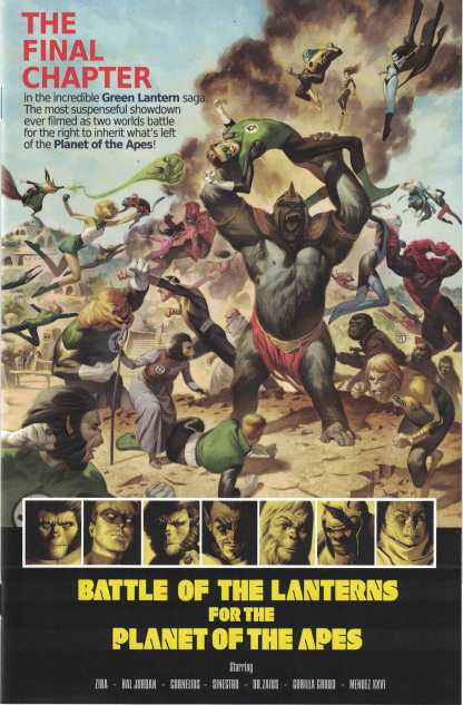 Planet of the Apes Green Lantern #5 1:10 Julian Totino Tedesco Variant Boom 2017