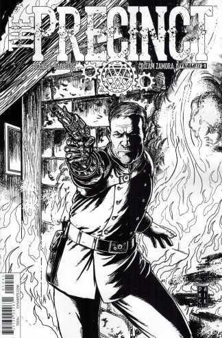 Precinct #1 1:10 Variant Cover D Robertson Black and White Sketch