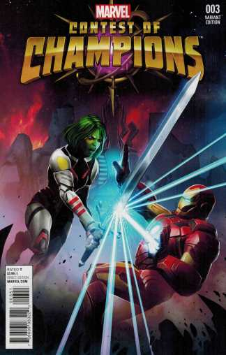 Contest of Champions #3 1:10 Game Variant Marvel ANAD 2015 Gamora